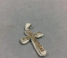 K18WG ダイヤペンダント