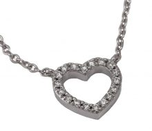 TIFFANY & CO_Metro heart necklace