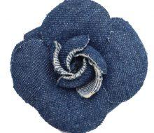 CH_Camellia denim brooch