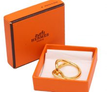 Hermes Cherne Dunkle scarf ring