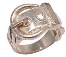Hermes silver dianne belt ring