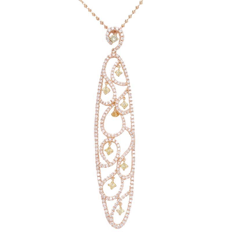K18PG_Diamond necklace