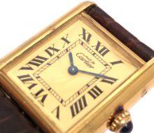 Cartier Must Tank Vermeil Quartz Watch Ladies