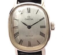 Omega devil hand-wound watch silver dial ladies