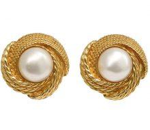 CHANEL fake pearl earrings