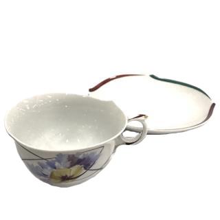 Meissen Jugent Poppy Tea Cup & Saucer