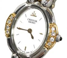 Seiko Credor Quartz Diamond Bezel Ladies Watch