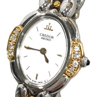 Seiko Credor Quartz Diamond Bezel Ladies Watch