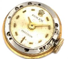 Rolex Precision back cover 18K Manual winding ladies movement only