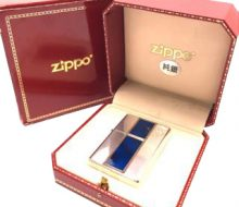 Zippo oil lighter with sterling silver sterling silver box