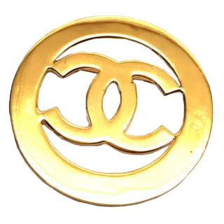 Chanel Cocomark Gold Brooch