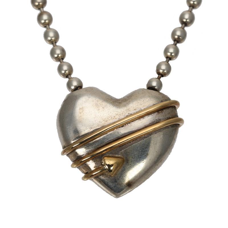 Tiffany SV925, K18 Heart & Arrow Pendant