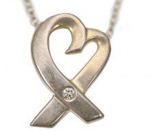 Tiffany SV925 Loving Heart 1 Diamond Necklace