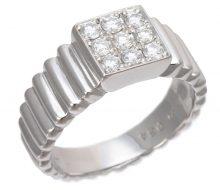 Dior PT900 diamond square ring