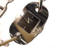 Gucci 6155L Quartz Ladies Black Dial Wrist Watch