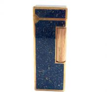 Dunhill roller gas lighter blue gold stone pattern
