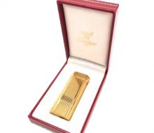 Cartier gas lighter gold with case