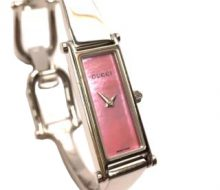 Gucci 1500L Quartz Ladies Watch Pink Shell Dial