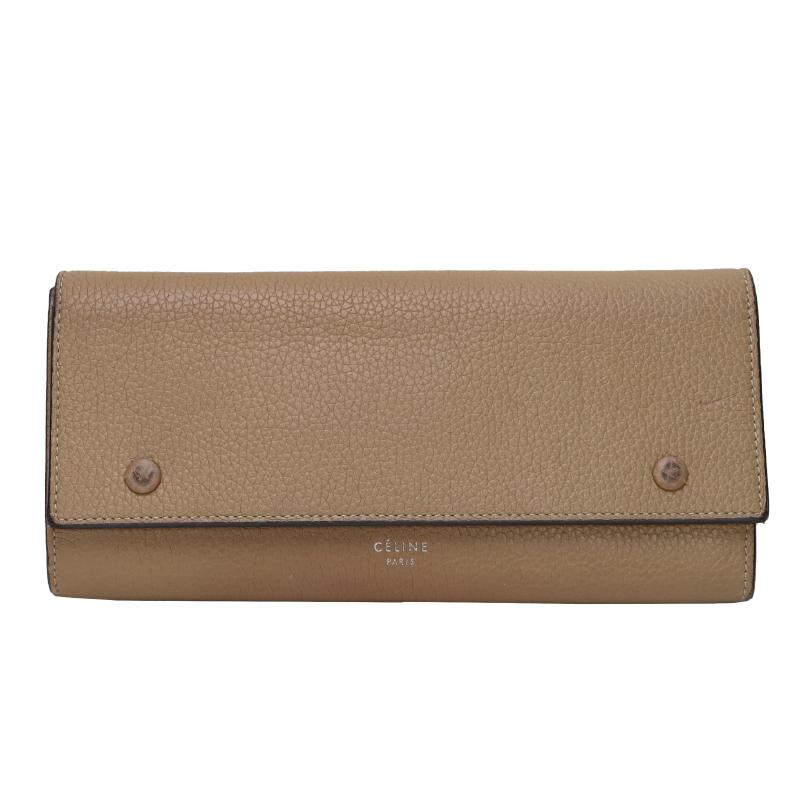 Celine leather fold wallet