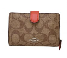 Coach Heritage Signature 2-fold compact wallet