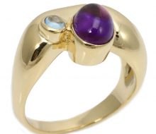 Design ring with K18 amethyst