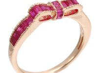 Design ring with K18 ruby