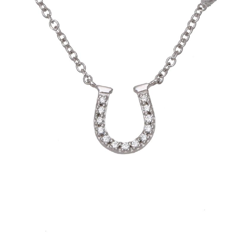 Tiffany Horseshoe Diamond Necklace K18WG