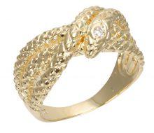 Snake ring with diamond K18