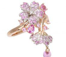 Flower ring K18PG