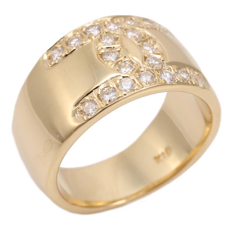 Design ring with K18 diamond