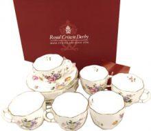 Royal Crown Derby positive cup & saucer set