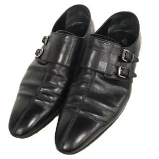 Louis Vuitton Damier Double Monk Leather Shoes