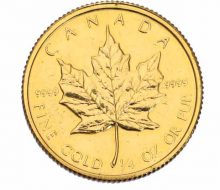 Maple gold coin 1/4 oz 24 gold