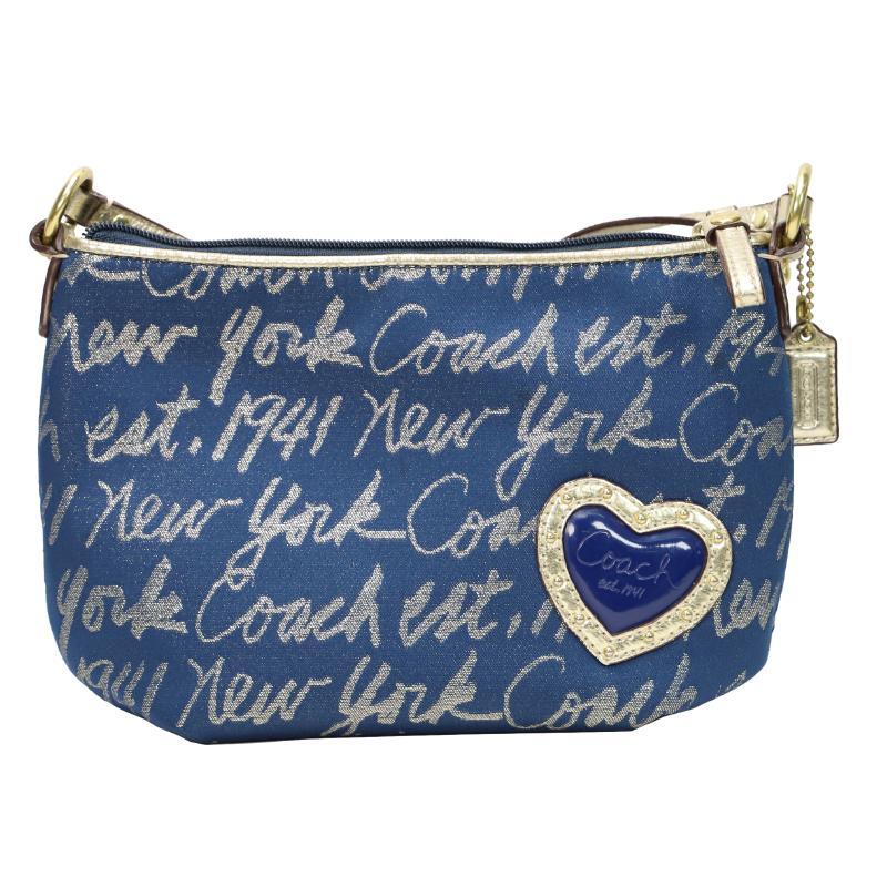 Coach script look shoulder pouch