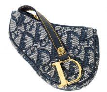 Christian Dior logogram saddle mini pouch