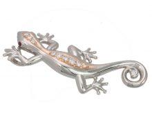 Gecko top with PT900 / K18 diamond