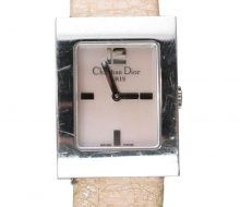 Christian Dior Ladies Leather Belt Quartz