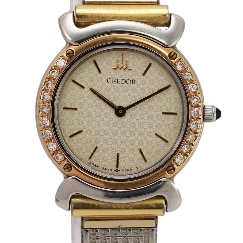 Seiko Credor K18 Diamond Bezel Quartz