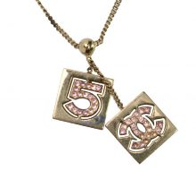 Chanel pink stone necklace