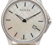 Gucci bezel diamond shell dial men's quartz
