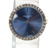 Patek Philippe K18WG Bezel Diamond Ladies Manual Winding