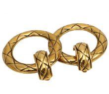 Chanel Matrasse Swing Loop 2WAY Earrings