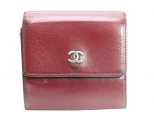 Chanel Leather Coco Mark W Hook Wallet