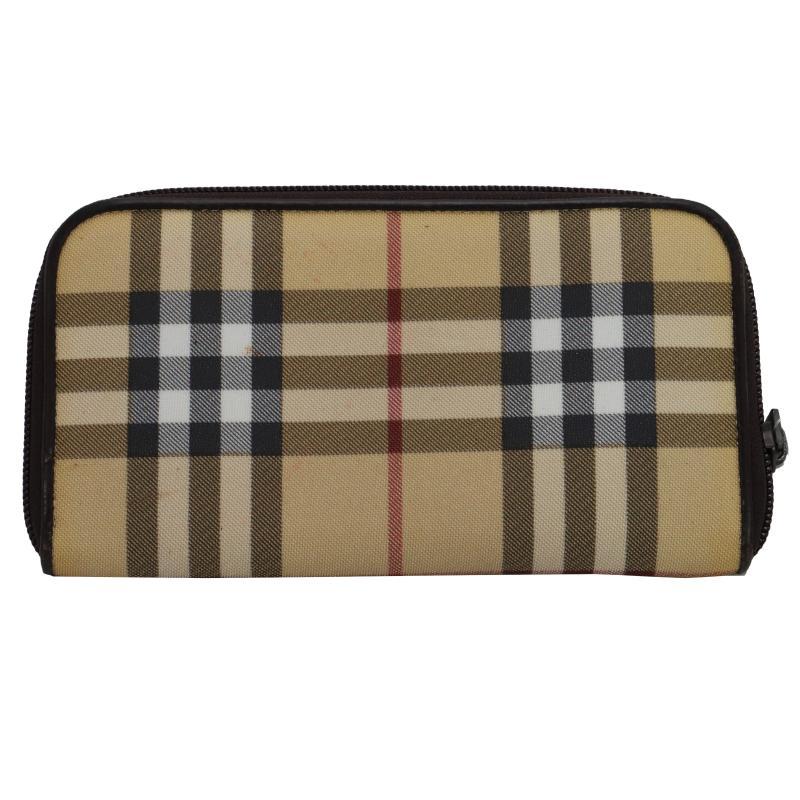 Burberry round zip wallet
