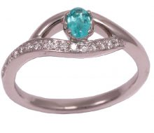 Design ring tourmaline with diamond