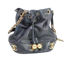 Chanel chain shoulder drawstring bag