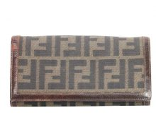 Fendi Zucca two-fold wallet