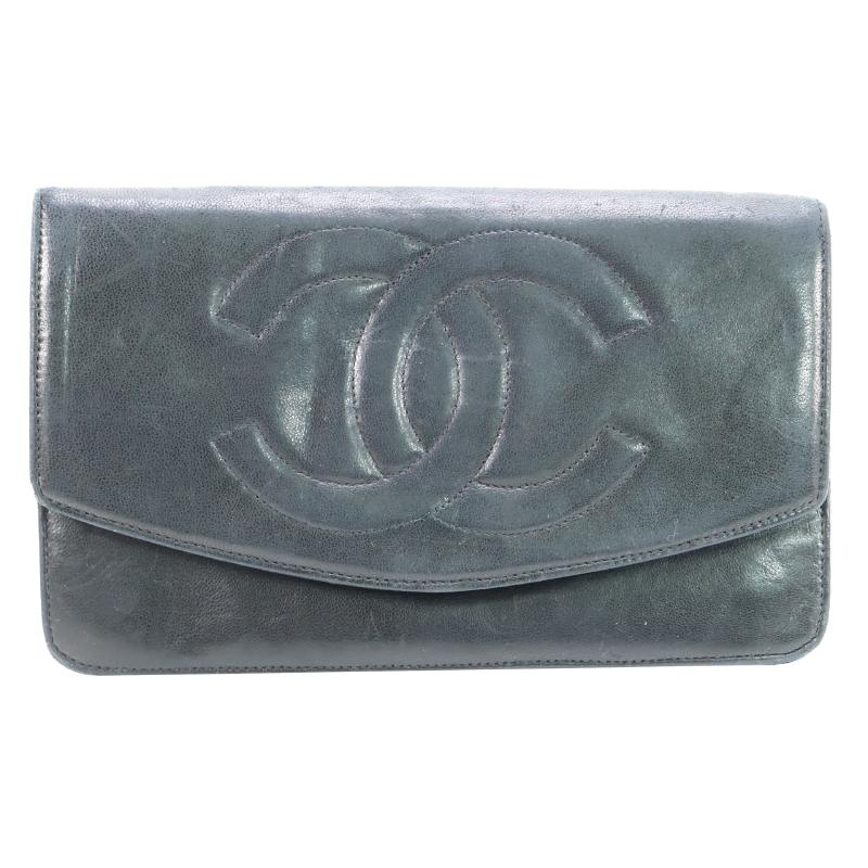 Chanel Coco Mark Lambskin Bi-Fold Wallet