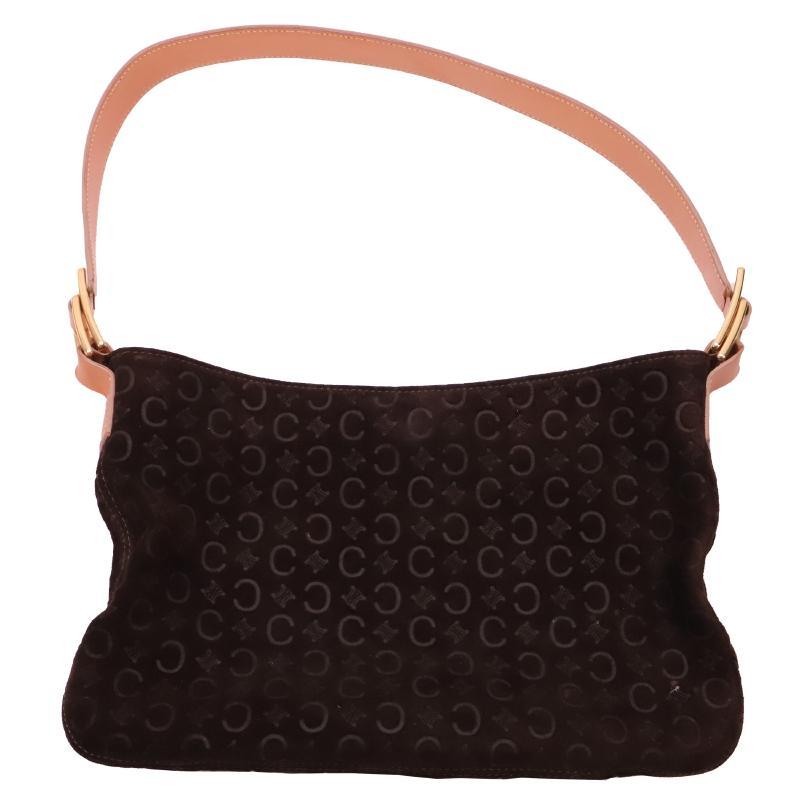 Celine suede one-shoulder bag