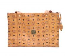 MCM PVC semi-shoulder tote bag